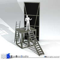 Theater elements 3D Model
