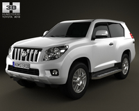 Toyota Land Cruiser Prado 3door 2011 3D Model