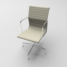 Aluminium armchair 3D Model