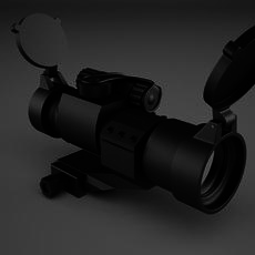 Red Dot Sight 3D Model