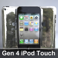 Gen4 iPod Touch 3D Model