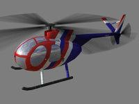 Hughes500 V1 3D Model