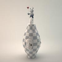 LLADRO Conversation Vase 3D Model