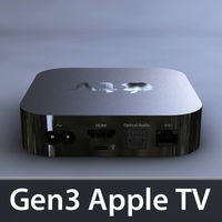 gen3 apple tv 3D Model