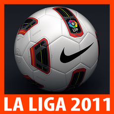 2010 2011 La Liga Match Ball 3D Model