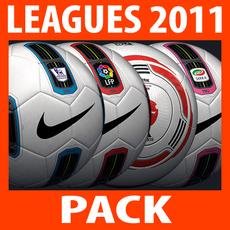 2010 2011 Leagues Match Balls Pack 3D Model