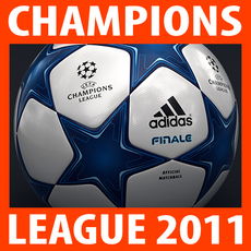 2010 2011 UEFA Champions League Finale 11 Match Ball 3D Model