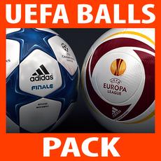 2010 2011 UEFA Match Balls Pack 3D Model