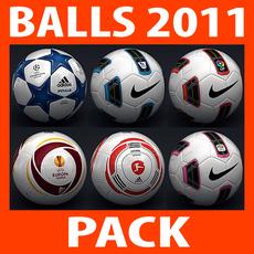 2010 2011 Match Balls Mega Pack 3D Model