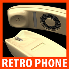 Retro Style Telephone - Gondola 3D Model