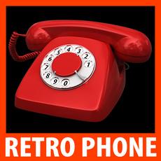 Retro Style Telephone - Heraldo 3D Model