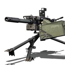 HK GMG - 40mm Grenade Machine Gun 3D Model