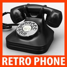 Retro Style Telephone - Bakelite 3D Model