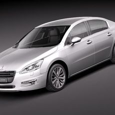Peugeot 508 2012 sedan 3D Model