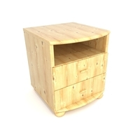 Pinewood bedside 3D Model