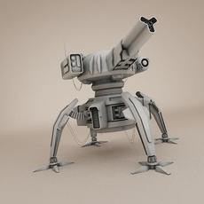 Sci fi gun tower 3D Model