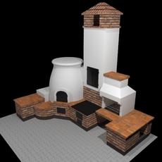 Outdoor oven  3D Model