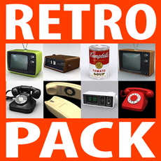 Retro Style Mega Pack Collection 3D Model