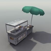 HotDog Stand 3D 3D Model