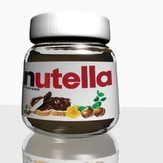 Nutella Chocolate Hazelnut Spread 3D Model