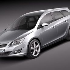 Opel Astra Touring - Estate 2011 3D Model
