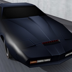 K.I.T.T. Car 3D Model