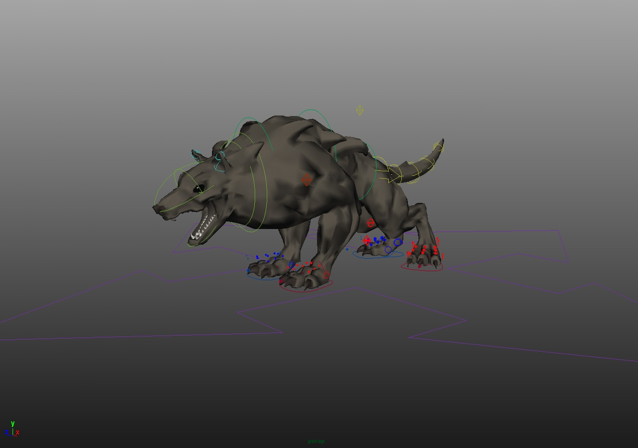 Wolf rig for Maya - Free Character Rigs Downloads for Maya