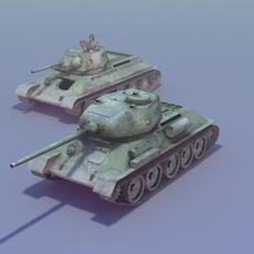 T34 85 Duo 3DModel 3D Model