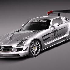 Mercedes Benz SLS AMG GT3 3D Model