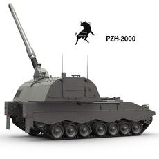 Pzh-2000 3D Model