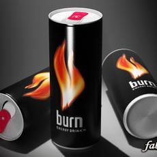 Burn energy drink 3D Model