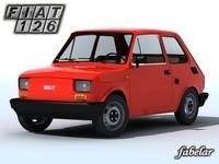 Fiat 126 3D Model