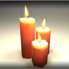 Candles - Low Poly 3D Model