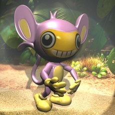 Pokemon like monkey RIGGED 3D Model