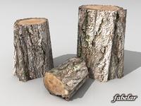 Logs HD 3D Model