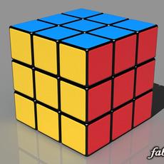 Rubik cube 3D Model