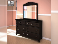 Ashley Jaidyn Dresser & Mirror 3D Model