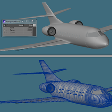 Executive Airplane 3D Model