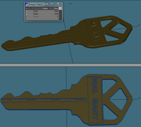 Generic door Key 3D Model