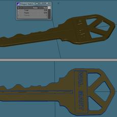 Generic door Key 3D Model