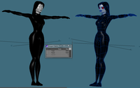 Cartoon mysterious woman 3D Model