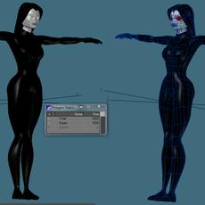 Cartoon mysterious woman 3D Model