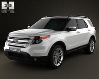 Ford Explorer 2011 3D Model