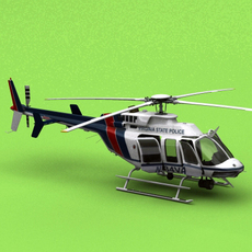 Bell 407 Virginia State Police  3D Model
