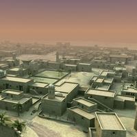 Arab Town Scene 01 3D Model