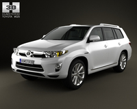 Toyota Highlander Hybrid 2011 3D Model