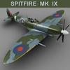 Supermarine Spitfire MK IX 3D Model