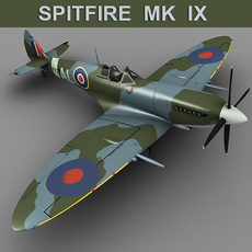 Supermarine Spitfire MK IX 3D Model