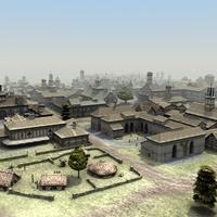 Fantasy Town Scene 01 3D Model
