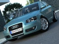 Audi A3 Sportback (2005) 3D Model